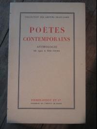 COLLECTIF / POETES CONTEMPORAINS - ANTHOLOGIE DE 1900 à NOS JOURS / 1946
