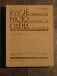 REVUE FRANCAISE DE PHOTOGRAPHIE ET DE CINEMA ANNEE 1938 COMPLETE