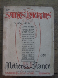 COLLECTIF / LES SAINTS PATRONS DES METIERS DE FRANCE / AUBANEL 1942