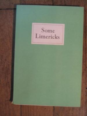 Norman DOUGLAS / SOME LIMERICKS  / NICHOLSON and WHITNEY 1942