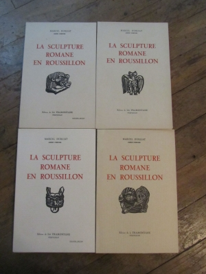 Marcel DURLIAT / LA SCULPTURE ROMAINE EN ROUSSILLON / 4 volumes 1950