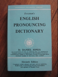 Daniel JONES  / ENGLISH PRONOUCING DICTIONARY / EVERYMAN'S 1963