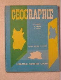 GEOGAPHIE  armand colin  chagny cabau forez 1966 CE1