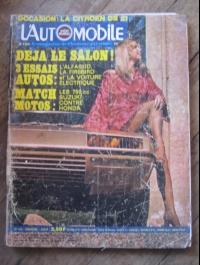 L'AUTOMOBILE  N° 315 AOUT 1972  PONTIAC FIREBIRD
