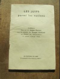 Jacques MARITAIN / LES JUIFS PARMI LES NATIONS / EDITIONS DU CERF  1938