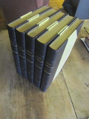 DU BELLAY / POESIES / RELIE ILLUSTRE / 5 VOLUMES  RICHELIEU 1955