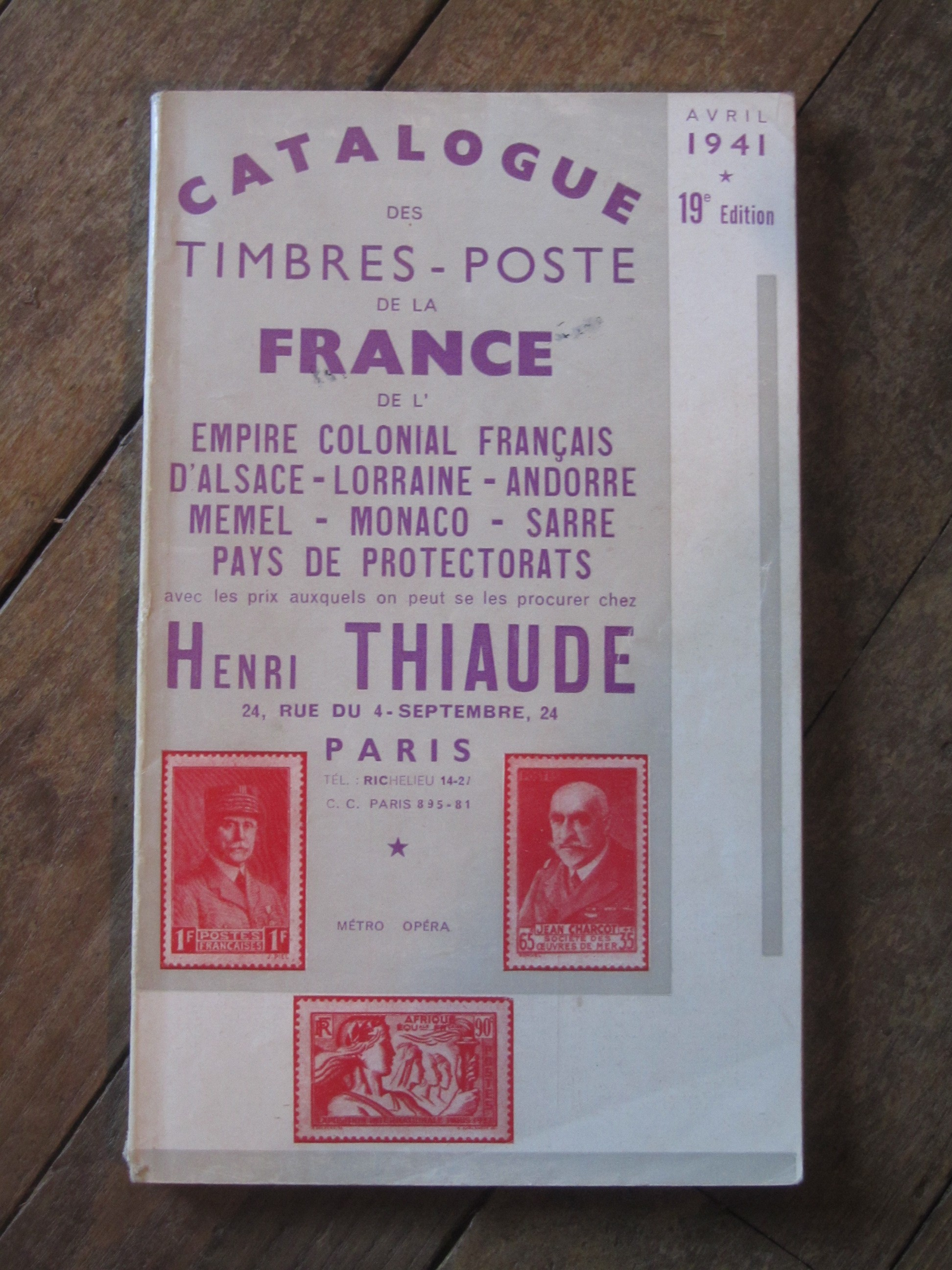 henri thiaude catalogue des timbres poste de la france avril. Black Bedroom Furniture Sets. Home Design Ideas