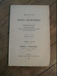 COLLECTIF / BULLETIN DE LA SOCIETE POLYMATHIQUE DU MORBIHAN / 1955