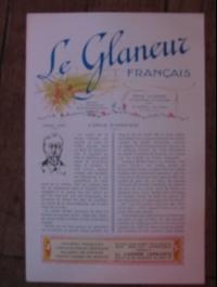 LE GLANEUR FRANCAIS / REVUE ILLUSTREE ARTISTIQUE circa 1925