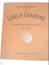 Cours de géographie  Abbé Dupont    1893