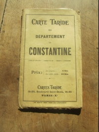 CARTE TARIDE / DEPARTEMENT DE CONSTANTINE / CIRCA 1920