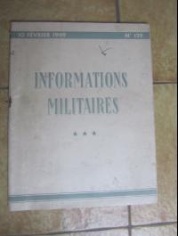 INFORMATIONS MILITAIRES N° 129 / FEVRIER 1949
