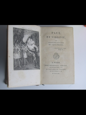 BERNARDIN DE SAINT PIERRE / PAUL ET VIRGINIE / DETERVILLE 1819