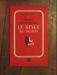 A.V. de VALLE / COMMENT RECONNAITRE LE STYLE DES EDIFICES 1946